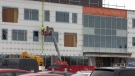 Construction continues at the evolv1 building on Wes Graham Way in Waterloo.
