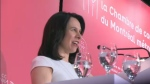 In her first time taking the big stage in front of Montreal's business community, Mayor Valerie Plante talked about her father Gaetan – a travelling salesman who taught her about hard work and business. (CTV Montreal)