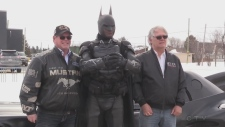 Brampton Batman is making the rounds in Timmins