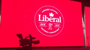 The main stage at the 2018 Liberal Party of Canada convention in Halifax, N.S. (CTV News / Rachel Aiello)
