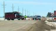 Intersection closed as RCMP continue crash probe