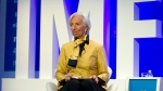 International Monetary Fund (IMF) Managing Director Christine Lagarde speaks at the panel Reforming the Euro Area: Views from inside and outside of Europe, during the World Bank/IMF Spring Meetings, in Washington, Thursday, April 19, 2018. ( AP Photo/Jose Luis Magana)