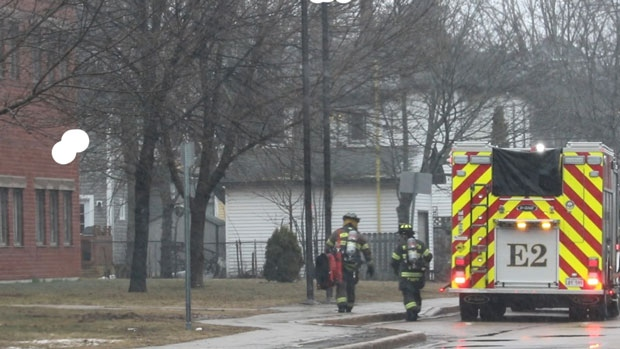 The Moncton Fire Department was called to reports of a toxic smell at Edith Cavell School in Moncton, N.B., Friday, April 20, 2018. (Courtesy: Wade Perry)