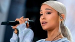"FILE - In this March 24, 2018 file photo, Ariana Grande performs ""Be Alright"" during the ""March for Our Lives"" rally in support of gun control in Washington. Grande has released her first song since a 2017 terrorist attack during her concert in the United Kingdom. The 24-year-old posted a video of ""No Tears Left to Cry"" on Instagram on Friday, April 20, 2018. The emotional song includes the lyrics: ""Right now I'm in a state of mind/ I wanna be in like all the time/ Ain't got no tears left to cry/ So I'm pickin' it up, I'm pickin' up."" (AP Photo/Andrew Harnik)"