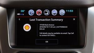 Marketplace app fuel payment feature (GM/ Chevrolet)