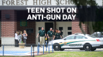 Student shot on day of national gun protest