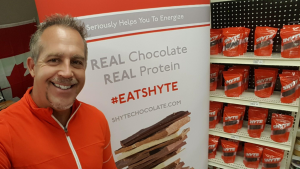 "Kevin Richards is seen at one of his ""Shyte shows."" (Shyte Protein Chocolate/Facebook)"