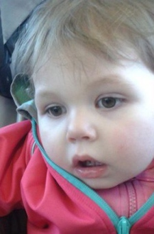 Two-year-old Rosalie Gagnon