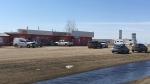 RCMP investigate a suspicious death in Midale, Sask. on April 20, 2018 (Colton Wiens / CTV Regina)