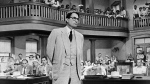 In this 1962 file photo originally released by Universal, actor Gregory Peck is shown as attorney Atticus Finch, a small-town Southern lawyer who defends a black man accused of rape, in a scene from 'To Kill a Mockingbird,' based on the novel by Harper Lee. (AP / Universal, File)