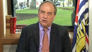 B.C. Green Party Leader Andrew Weaver speaks with CTV's Question Period Host Evan Solomon in an interview that airs on April 22, 2018.