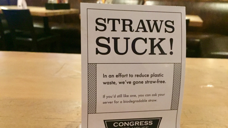 Image result for straw free signs