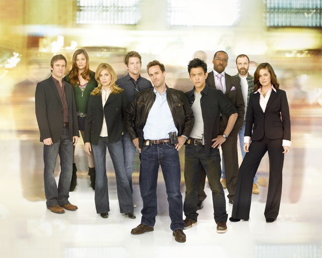 Jack Davenport as Lloyd, Peyton List as Nicole, Sonya Walger as Olivia, Zachery Knighton as Bryce, Joseph Fiennes as Mark, John Cho as Demetri, Courtney B. Vance as Stan, Brian O'Byrne as Aaron and Christine Woods as Janis in 'Flash Forward.'