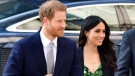 Prince Harry and Meghan Markle arrive at the Australian High Commission in London to attend a reception celebrating the forthcoming Invictus Games Sydney 2018, Saturday April 21, 2018. (Dominic Lipinski/PA via AP)