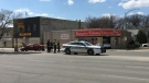 Three people were working in the store at the time of the accident. (Source: Jamie Dowsett/CTV News)