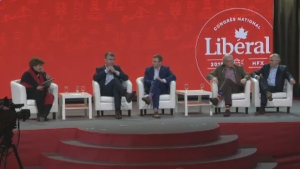 The four Atlantic premiers took the stage at the Liberal's national convention Saturday, April 21, 2018.