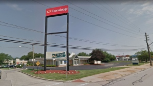 The hotel where a two-year-old girl was found fatally shot Friday in Wickliffe, Ohio is seen in this Google Maps image. (Source: Google Maps)
