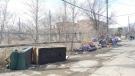Debris piling up in West End back lane