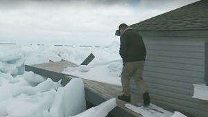 Ice damage to properties along Lake Simcoe