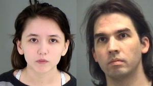 Katie Pladl, left, is shown alongside her biological father, Steven Pladl. (Wake County Sheriff's Office / Hartford Courant via AP)