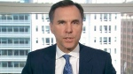 Finance Minister Bill Morneau on CTV's Question Period on Sunday, April 22, 2018. (CTV News)