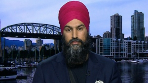 NDP Leader Jagmeet Singh on CTV's Question Period on Sunday, April 22, 2018. (CTV News)