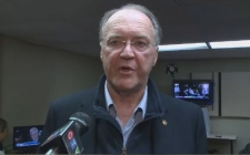 Longtime New Brunswick and federal politician Keith Ashfield, pictured here in October 2015, has passed away at the age of 66.