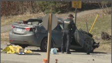 One person in life threatening condition after a crash on Merivale Road at Prince of Wales.