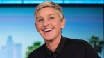 Ellen Degeneres during a commercial break at a taping of 'The Ellen Show' in Burbank, on Oct. 13, 2016. (Andrew Harnik / AP)
