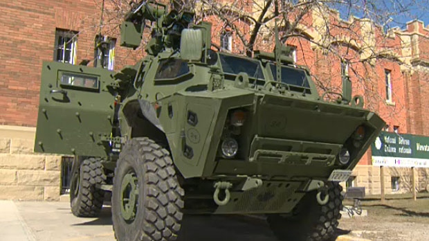 The King's Own Calgary Regiment unveiled the Tactical Armoured Patrol Vehicle (TAPV) as part of the unit's St. George's Day celebrations.