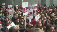 About 1,000 striking Caesars Windsor workers rally