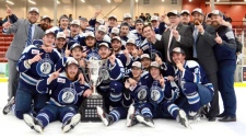 The Pistons took home the Manitoba Junior Hockey League championship in game 6 of the 7 game series with a score of 2-1. (Source: The Steinbach Pistons)