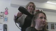 Beauty salon offers child minding services