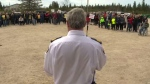 Sunday hundreds of people gathered at a rally in Victoria Beach to support Brad Patzer. (File image)