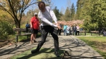 """B.C. Health Minister Adrian Dix says the new Fraser Health hip and knee replacement program help people """"get back into the swing of things."""" (Twitter / @AdrianDix)"""
