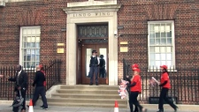 LIVE1: View outside of the Lindo Wing in London