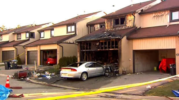 Investigators with the Ontario Fire Marshal are investigating after a fire killed two people and a dog on Sunday, April 22, 2018.