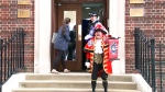 Town Crier announces birth of new prince