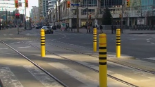 Queens Quay streetcar barriers