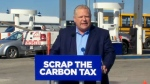 PC leader Doug Ford speaks to reporters at a news conference in Caledon on April 23, 2018.