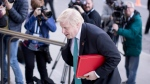 British Foreign Secretary Boris Johnson arrives for a reception for G7 Foreign Ministers at the Royal Ontario Museum in Toronto on Sunday, April 22, 2018.THE CANADIAN PRESS/Chris Young