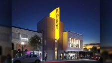 An image released by the Theatre Network released an image of what the new Roxy Theatre will look like - after the province announced a $2.5M funding boost to rebuild the theatre, which was destroyed by fire in January, 2015. Supplied.