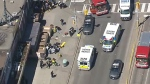 The CTV News Toronto Chopper captured aerial footage from a developing scene where police say numerous pedestrians were hit by a van on April 23, 2018.