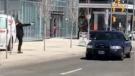 Van hits pedestrian