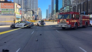 Several people were struck by a van at Yonge St. and Finch Ave. in Toronto on Monday, April 23, 2018. (Credit: Brad Smith)