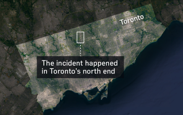 Toronto map of van-pedestrian incident