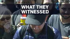 Witnesses describe the scene in Toronto