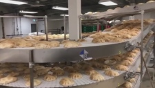 Pita's being made at Sultan bakery