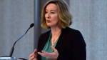 Bank of Canada deputy governor Carolyn Wilkins speaks at the Rotman School of Management in Toronto on Thursday, March 22, 2018. (THE CANADIAN PRESS/Frank Gunn)