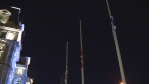 Montreal City Hall flags half mast April 23